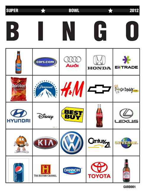 image about Printable Super Bowl Bingo Cards named Tremendous Bowl Bingo Calamity Jennie